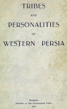 Tribes and Personalities of Western Persia