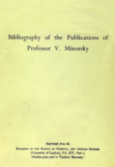 Bibliography of the Publications of Professor V. Minorsky