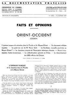 Faits et Opinions, Orient-Occident, n° 0.450
