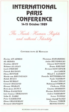 International Paris Conference, 1989