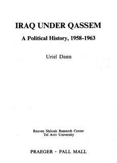 Iraq Under Qassem